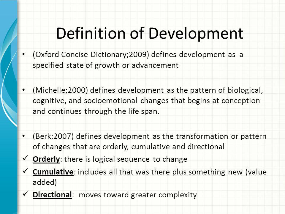 Child Development vs.