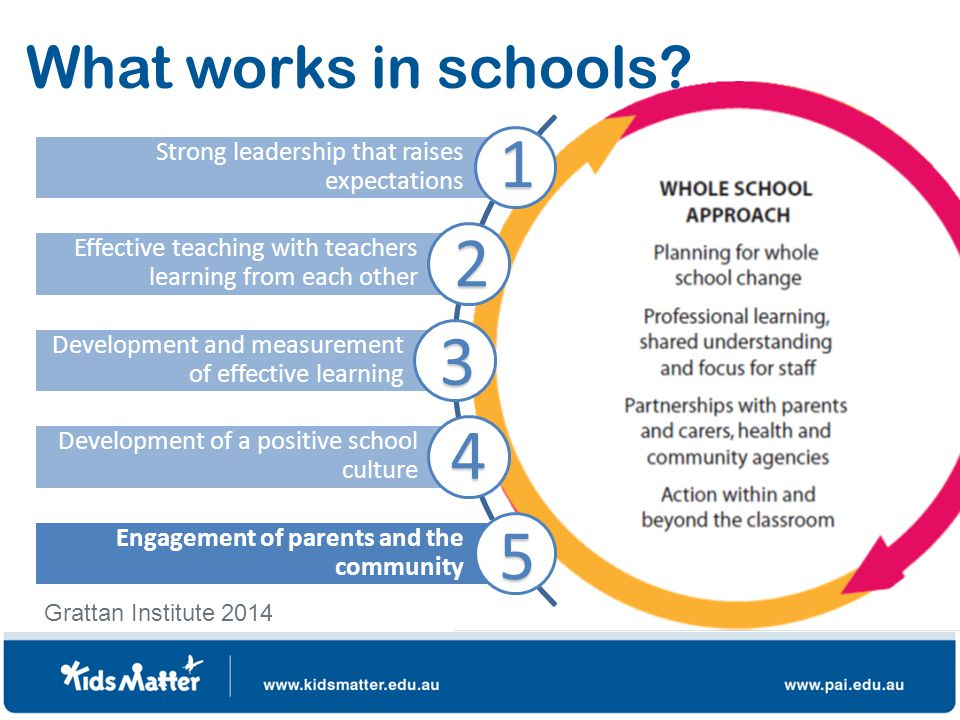 What works in schools.