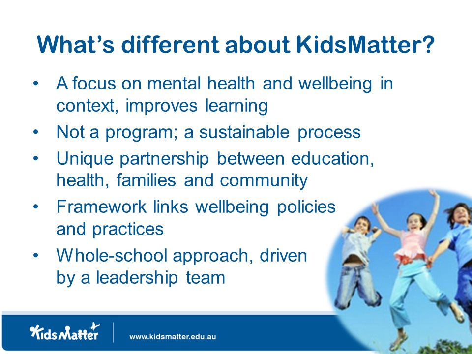 What's different about KidsMatter.