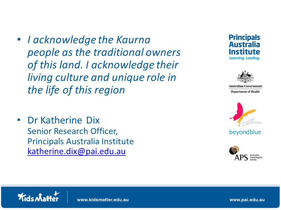I acknowledge the Kaurna people as the traditional owners of this land.