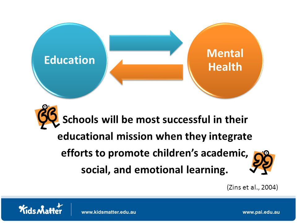 Schools will be most successful in their educational mission when they integrate efforts to promote children's academic, social, and emotional learning.