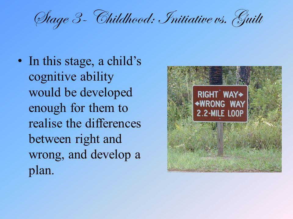 Stage 3- Childhood: Initiative vs.