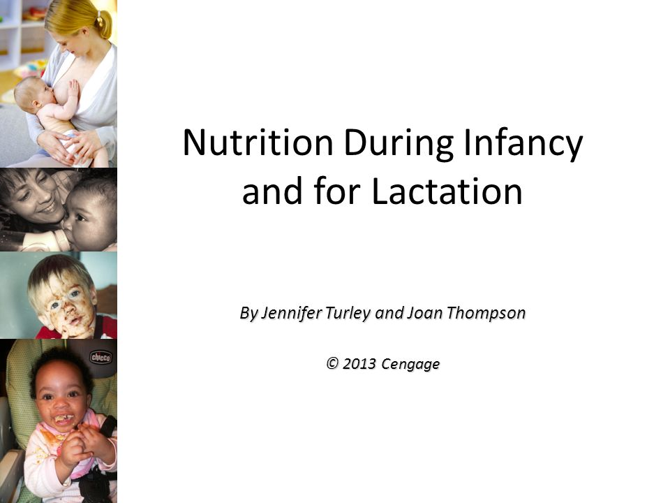 Energy and Nutrient Needs for Baby Calories: EER, high Calorie need, 2-4 times more per Kg than adults Carbohydrate: 60 gm/day (0-6 mo & high lactose); 95 gm/day (7-12 mo); no DRI for fiber Protein: 1.52 gm/Kg (0-6 mo); 1.5 gm/Kg (7-12 mo); 10 EAA, underdeveloped kidney's Fat: High intake and a DRI; 31 gm/day (0-6 mo); 30 gm/day (7-12 mo); DRIs for the EFAs, long chain omega-3 FA are health promoting