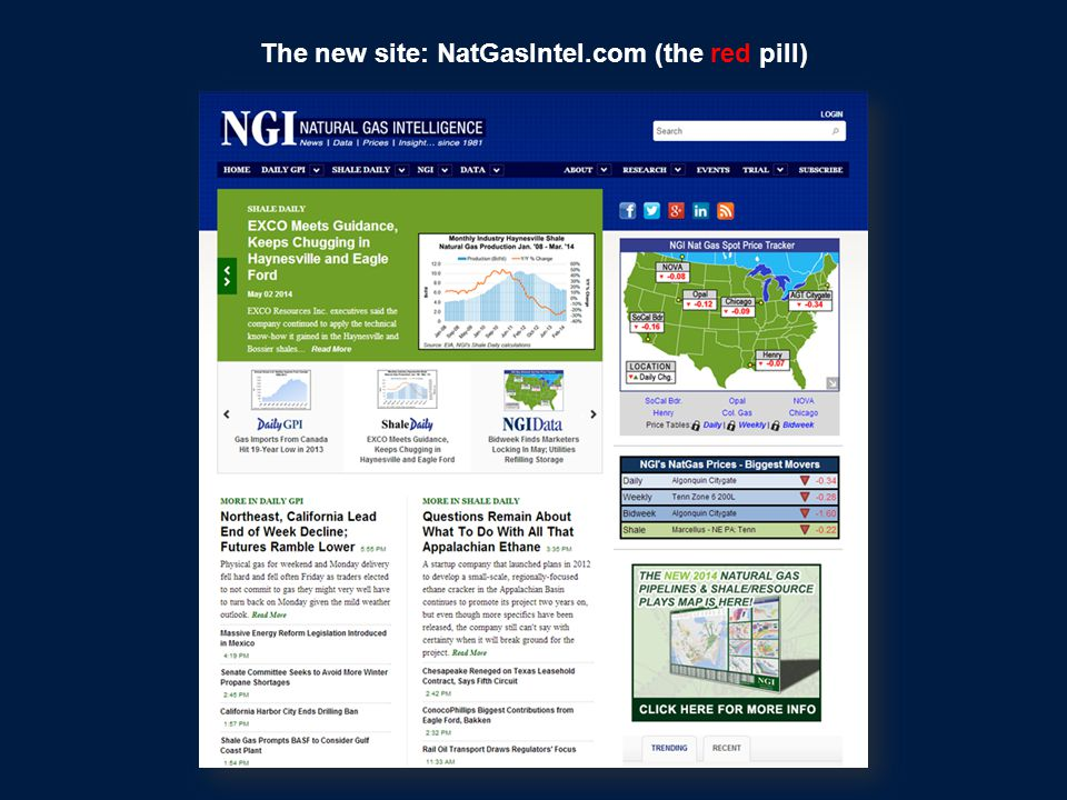 The old shaledaily.com website (the other blue pill)