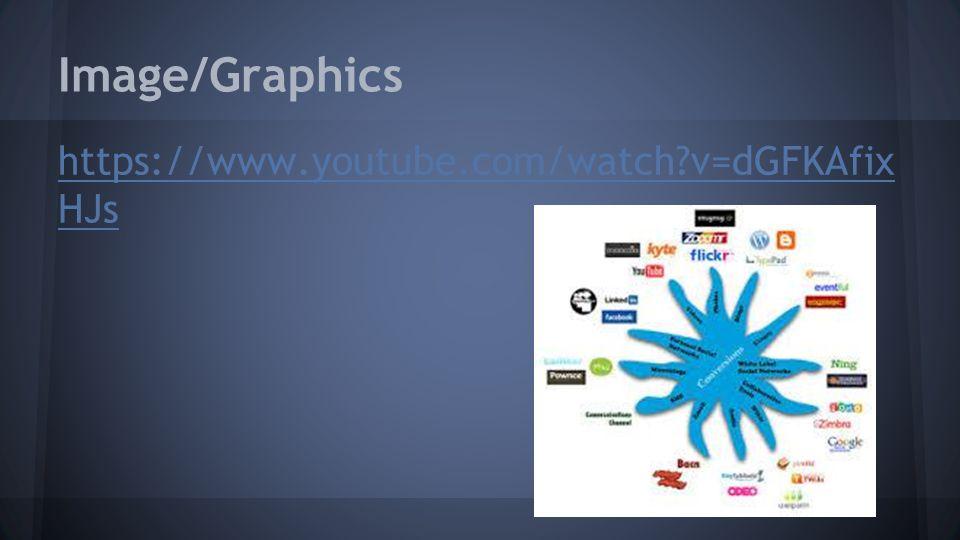 Image/Graphics https://www.youtube.com/watch?v=dGFKAfix HJs
