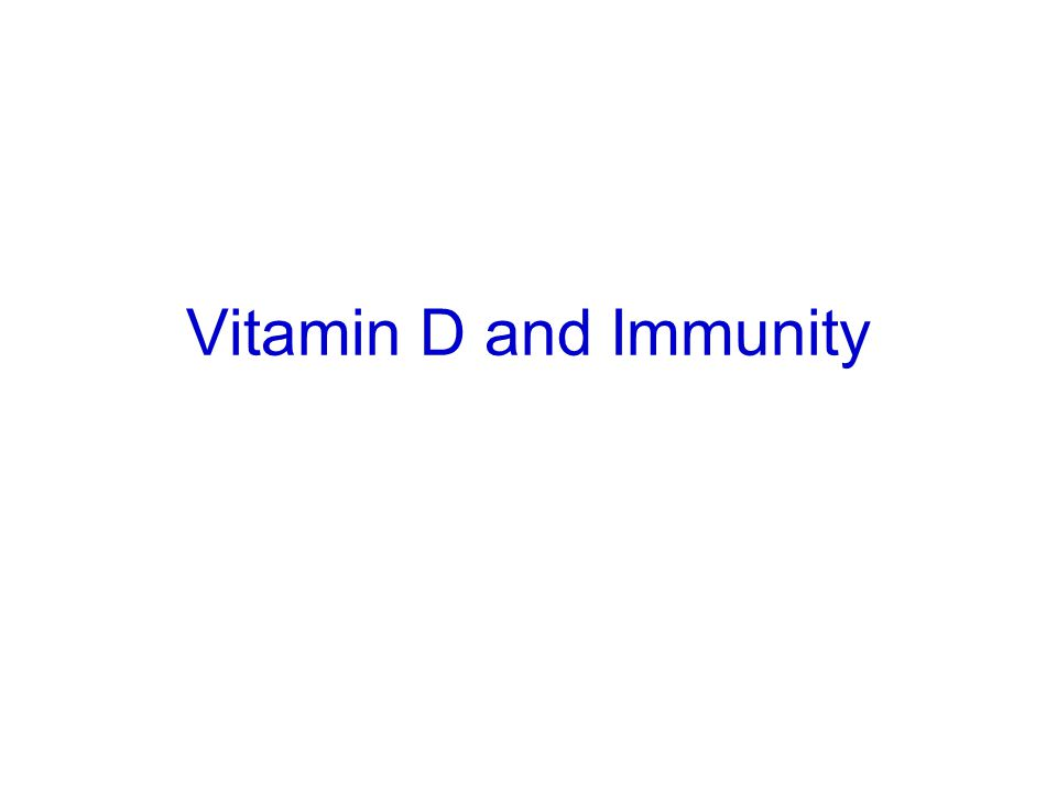 Vitamin D and Immunity