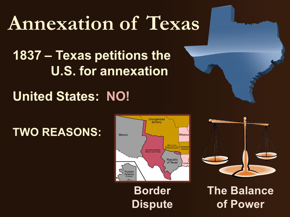 Annexation of Texas 1837 – Texas petitions the U.S.