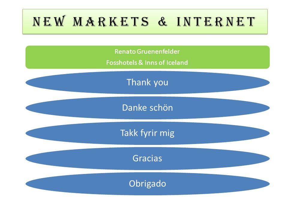 NEW MARKETS & Internet Renato Gruenenfelder Fosshotels & Inns of Iceland Thank youDanke schönTakk fyrir migGraciasObrigado