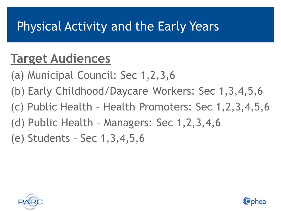 Physical Activity Guidelines Early Years 0-4 years Children 5-11 years Youth 12-17 years Adults 18-64 years Older Adults 65 years + Canadian Society for Exercise Physiology