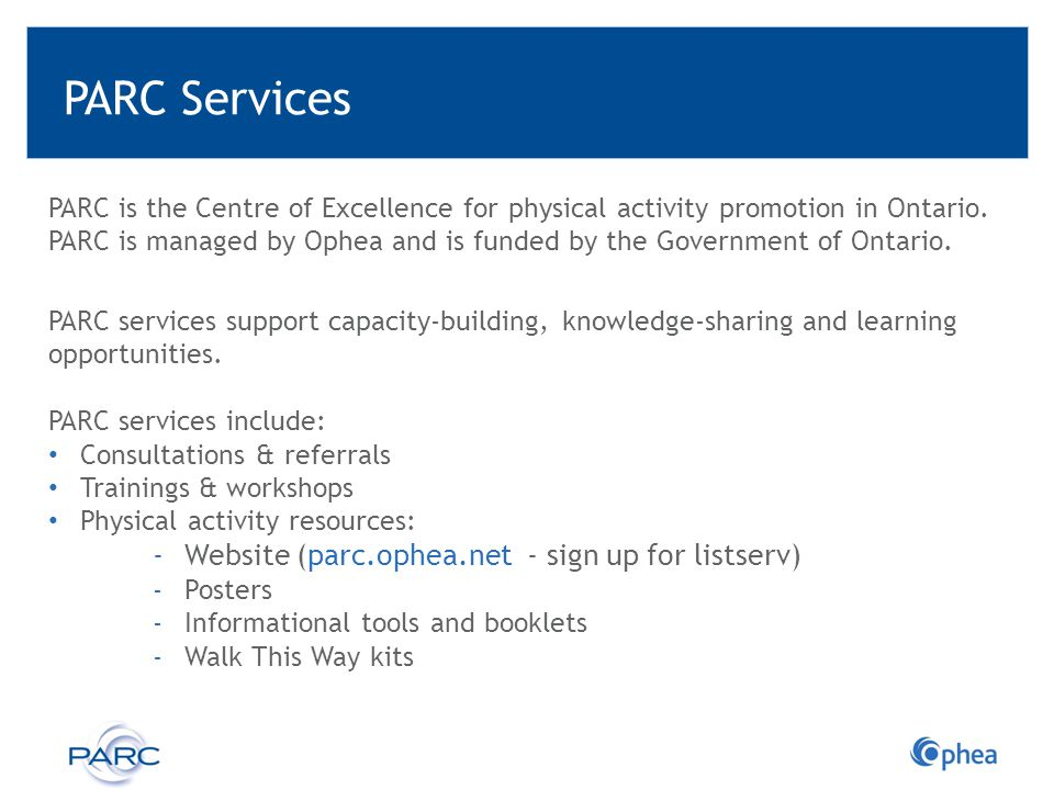 Ophea Overview Vision All children and youth value and enjoy the lifelong benefits of healthy, active living.
