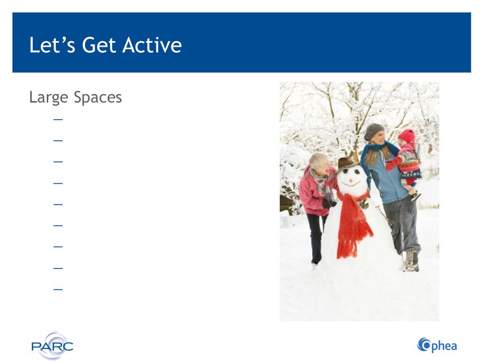 Let's Get Active Large Spaces ―