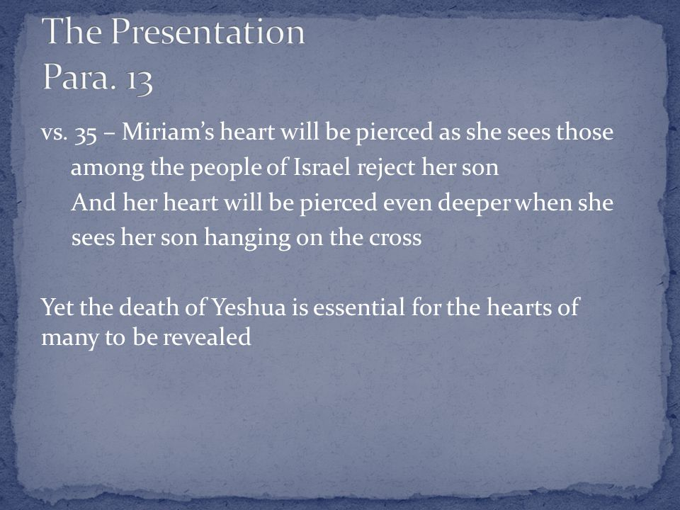 Anna: The second encounter Luke records Anna is the Anglicized form of the Hebrew name Hannah She is described as: 1.