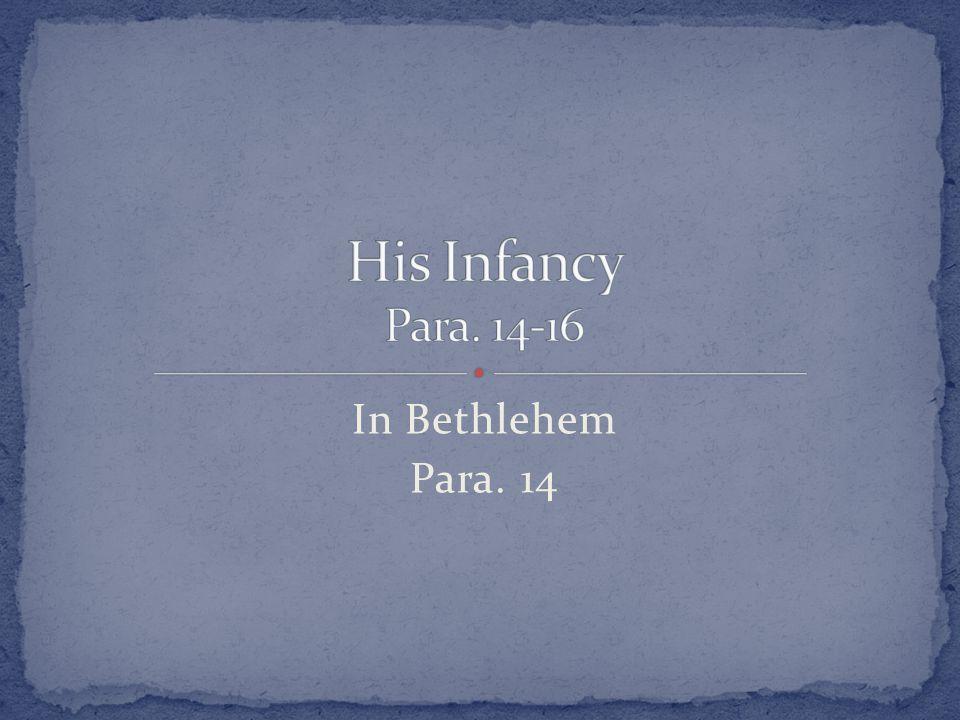 In Bethlehem Para. 14
