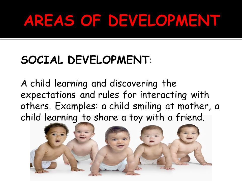EMOTIONAL DEVELOPMENT: The ability to recognize and understand feelings and how to respond to them appropriately.