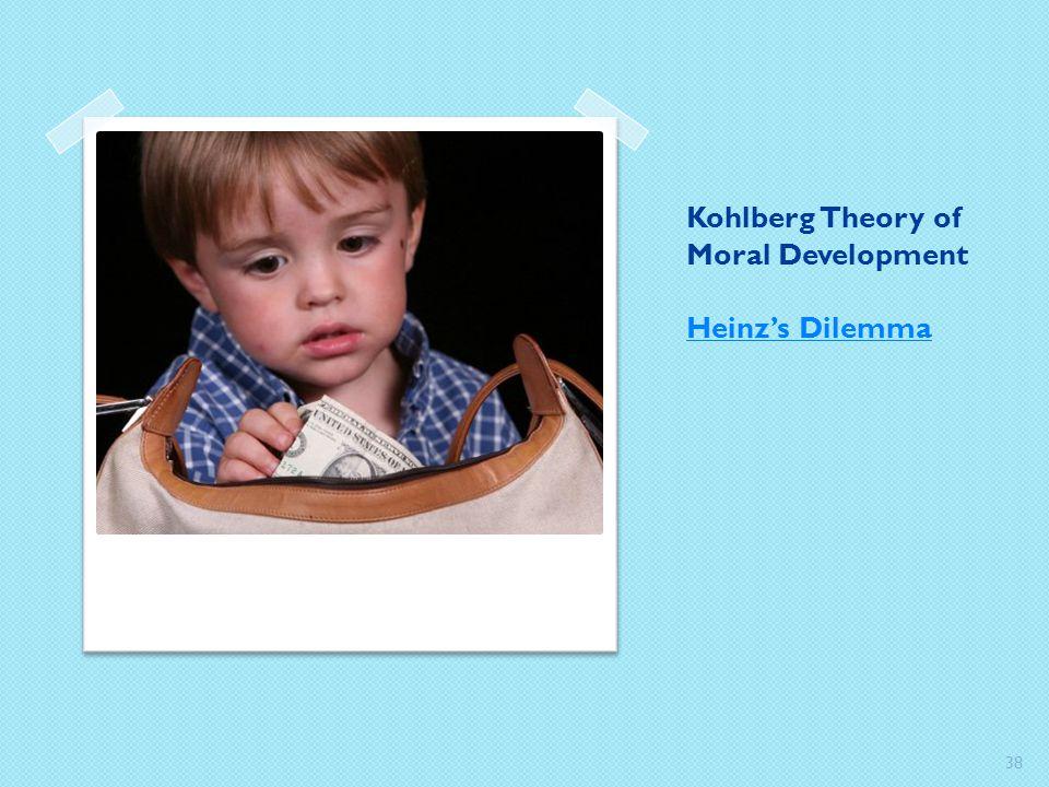 Kohlberg Theory of Moral Development Heinz's Dilemma Heinz's Dilemma 38