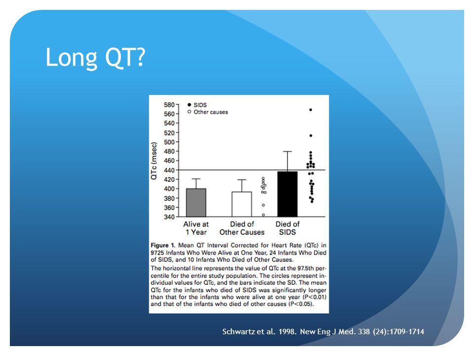 Long QT? Schwartz et al. 1998. New Eng J Med. 338 (24):1709-1714