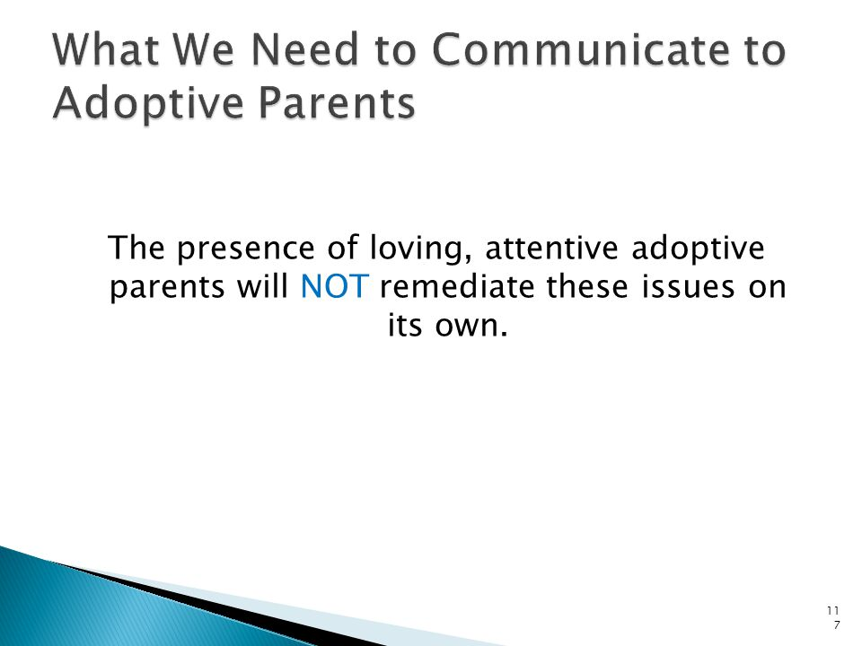 Does this fit with what you have experienced or heard from adoptive families with whom you have worked.