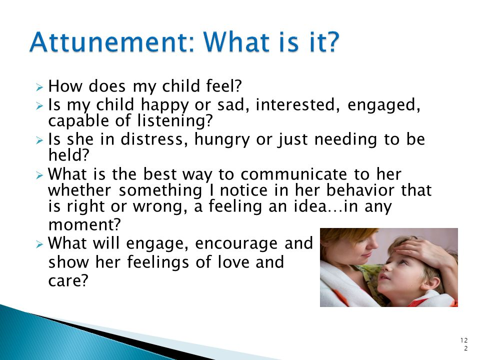 Attunement and non-verbal communication 123