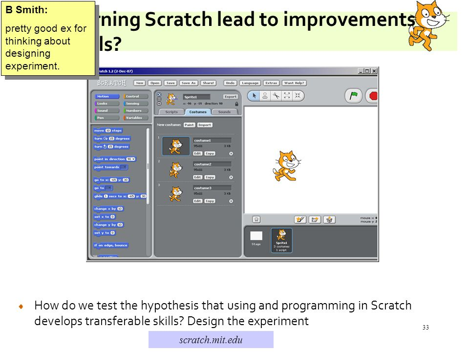 33 Does learning Scratch lead to improvements in Math skills.
