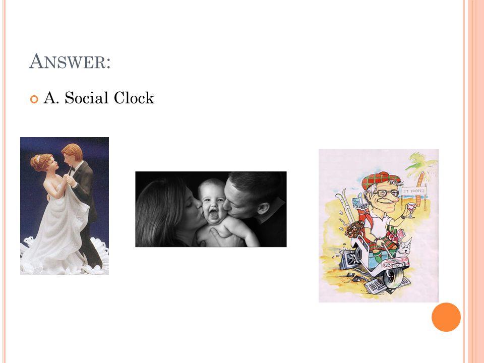 A NSWER : A. Social Clock