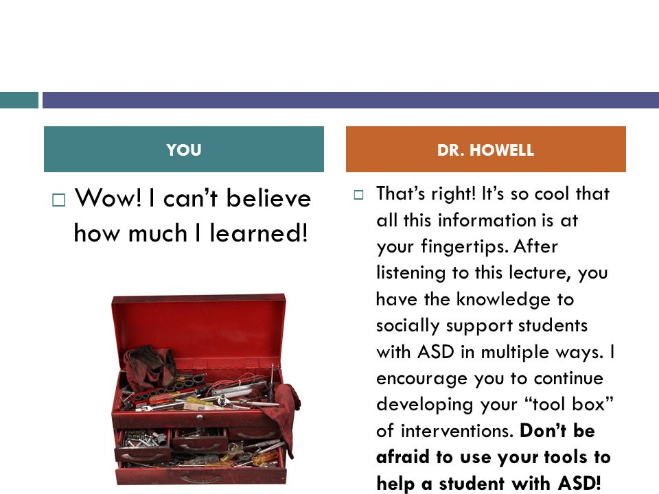  Wow! I can't believe how much I learned!  That's right! It's so cool that all this information is at your fingertips. After listening to this lectu