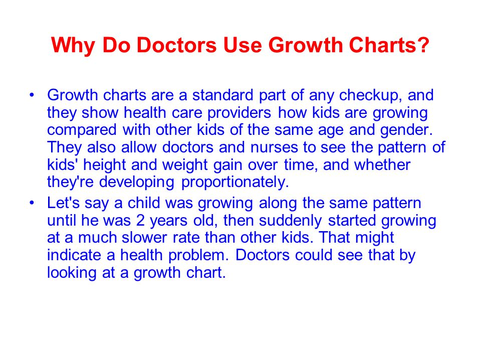 Why Do Doctors Use Growth Charts.