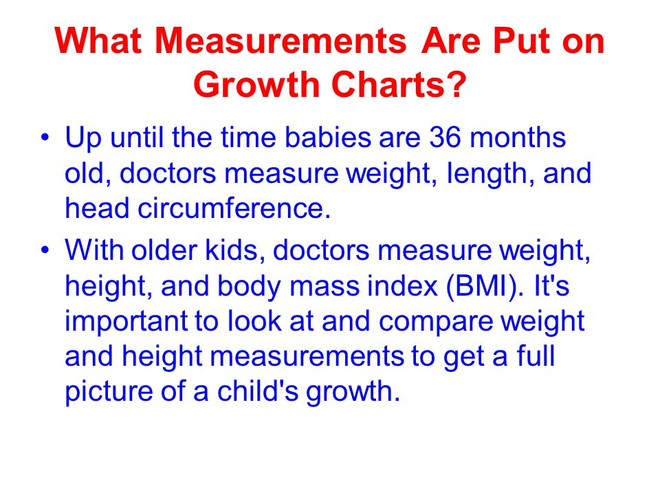 What Measurements Are Put on Growth Charts.