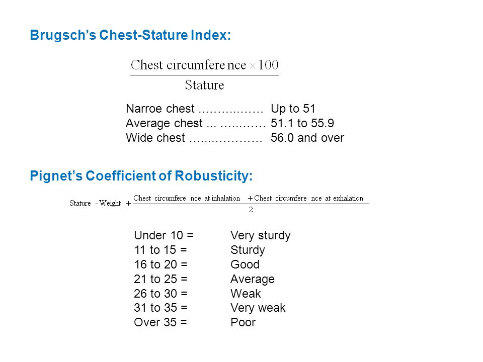 Narroe chest..……...……Up to 51 Average chest...