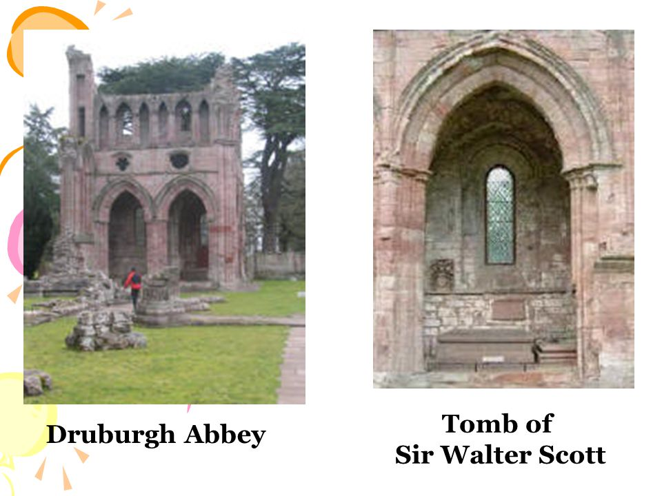 Druburgh Abbey Tomb of Sir Walter Scott