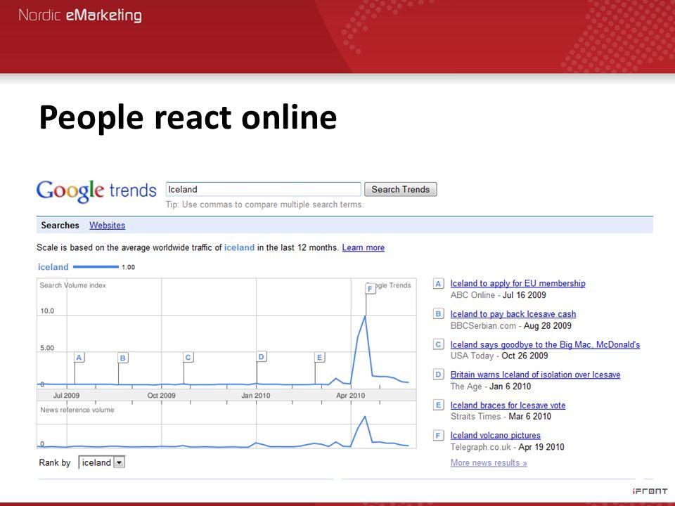 People react online