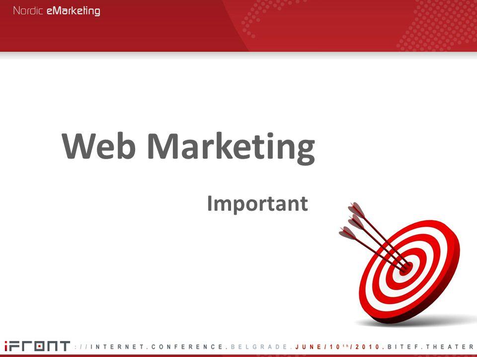 Important Web Marketing