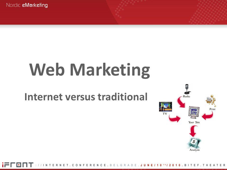 Internet versus traditional Web Marketing
