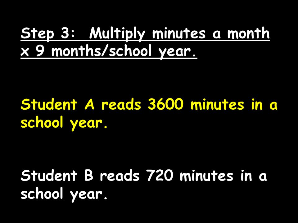 If daily reading begins in infancy, by the time the child is 5 years old, he or she has been fed roughly 900 hours of brain food!