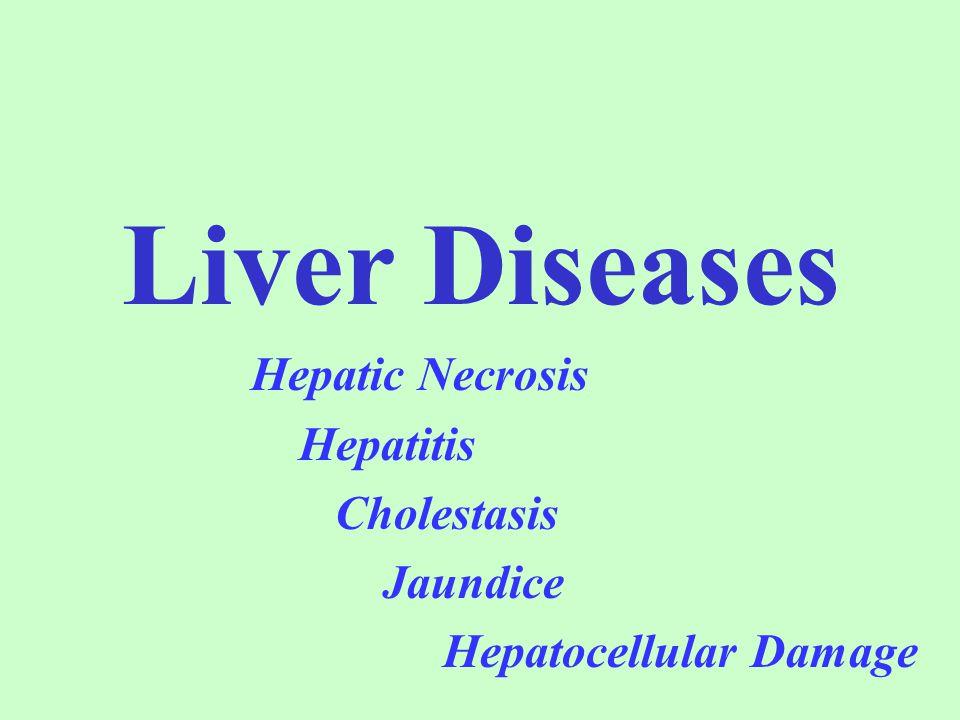 Liver Diseases Hepatic Necrosis Hepatitis Cholestasis Jaundice Hepatocellular Damage