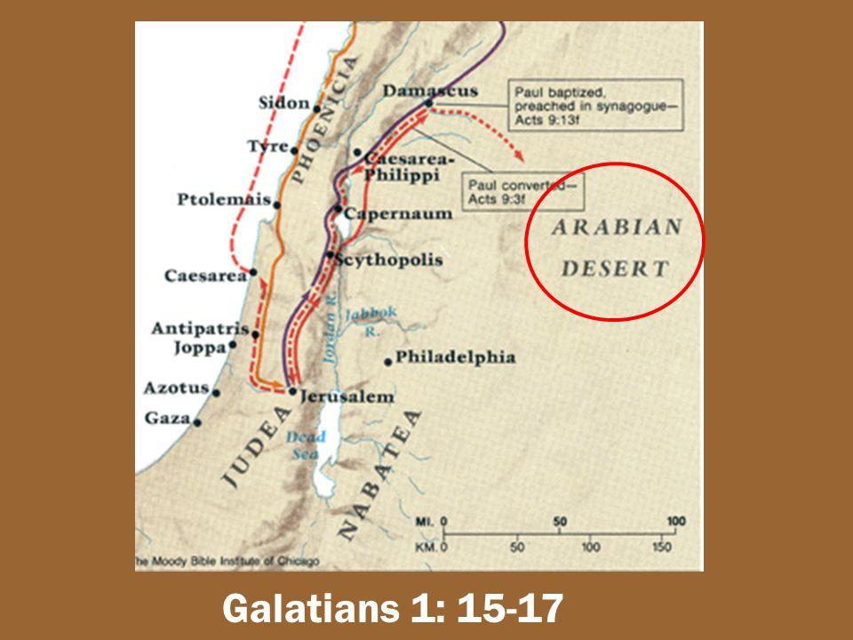 Galatians 1: 15-17