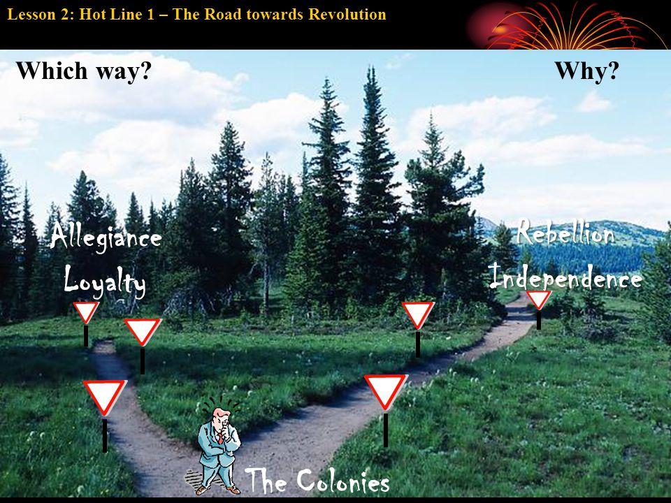 RebellionIndependence AllegianceLoyalty Which way.