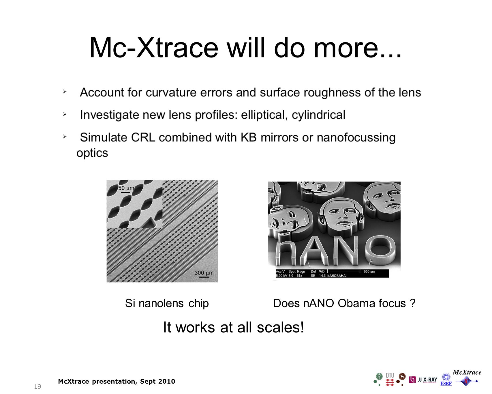 Mc-Xtrace will do more... It works at all scales.