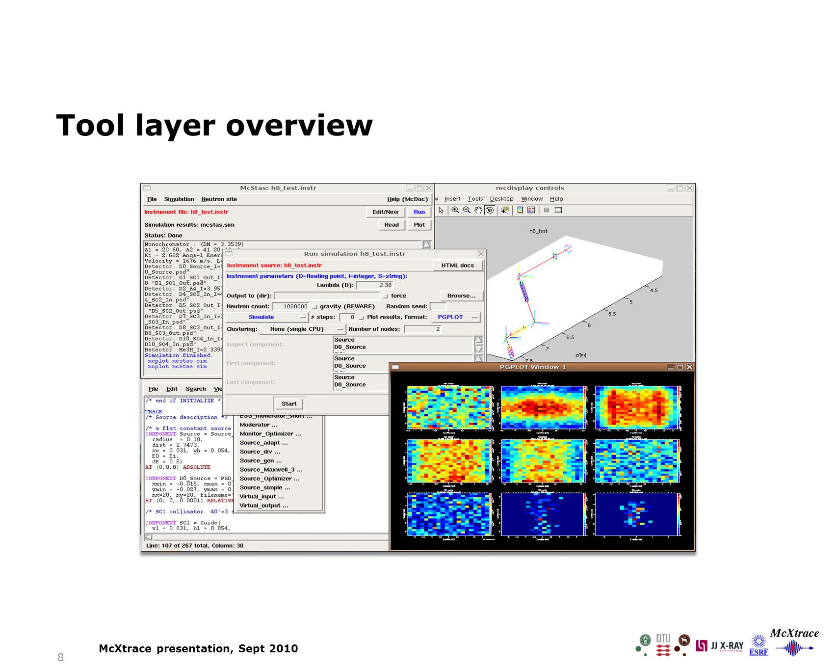 8 Tool layer overview McXtrace presentation, Sept 2010