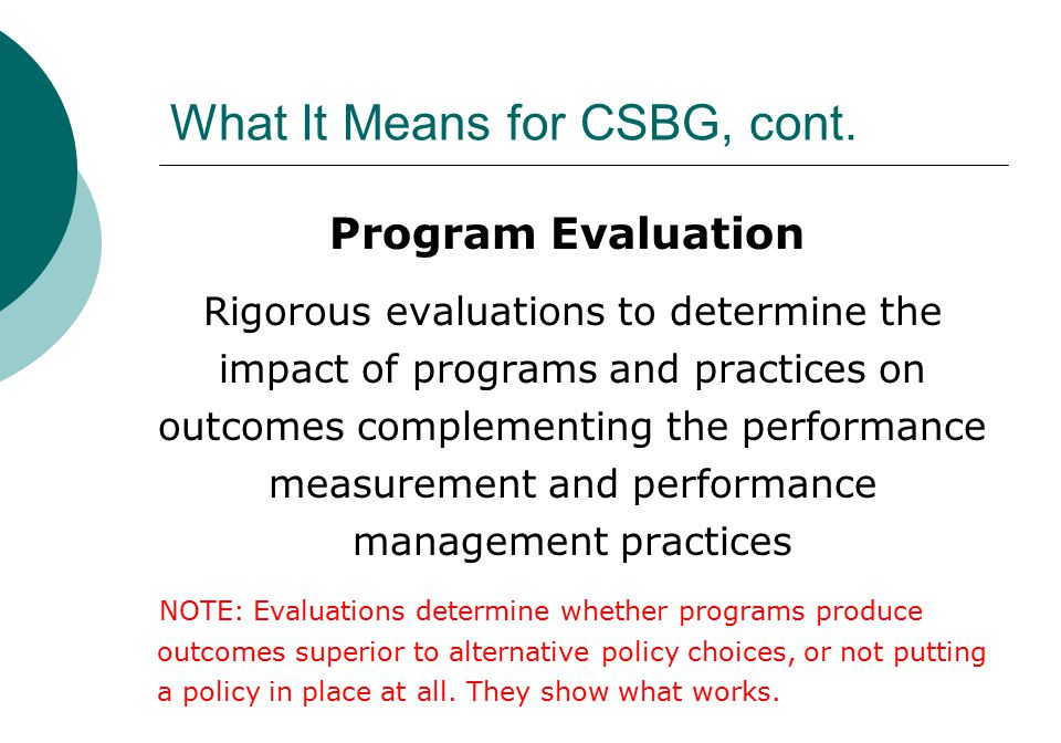 What It Means for CSBG, cont.