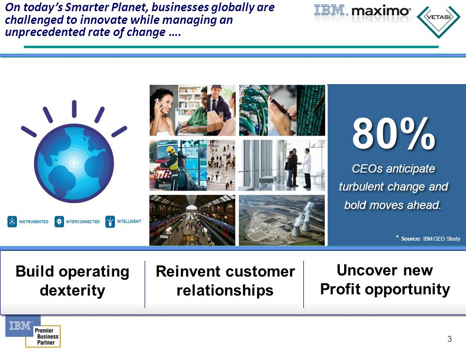 4 Speed Value Smartphones and 1.2 billion mobile employees by 2014 1B illion Extended Reach view cloud as critical to their plans 90% of digital content in 2012, up 50% from 2011 2.7ZB New Insights Intelligent business assets 20B+ Responsiveness 1.Technology factors 2.