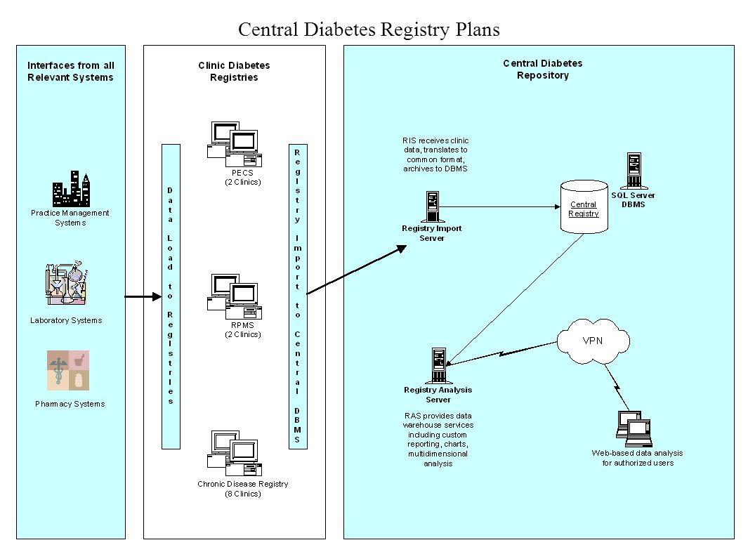 Central Diabetes Registry Plans
