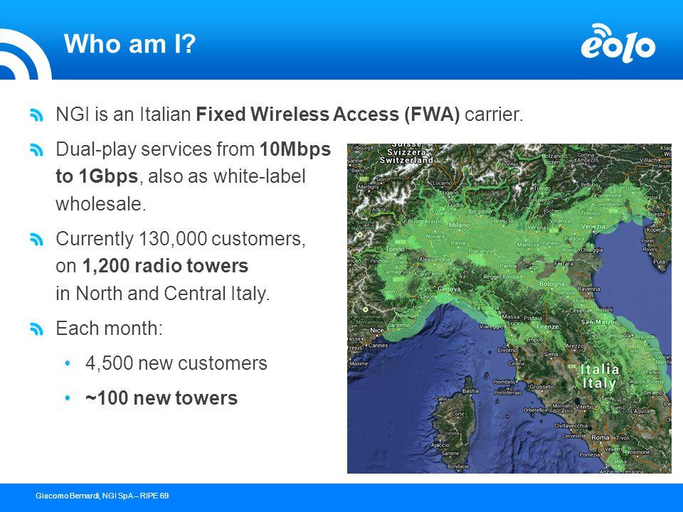 23 confidential document - copyright © 2004 NGI s.p.a.Giacomo Bernardi, NGI SpA – RIPE 69 The new network topology Area 1 Area 2 Core Ring ABR LDP