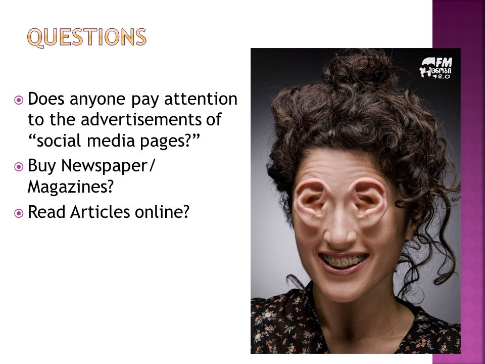  Does anyone pay attention to the advertisements of social media pages  Buy Newspaper/ Magazines.