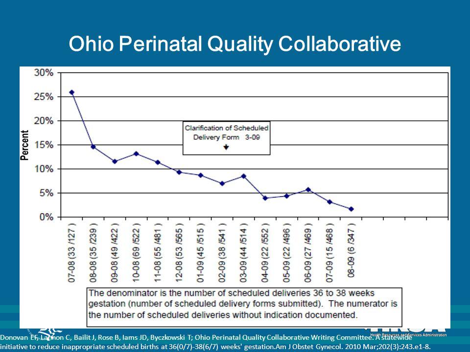 Ohio Perinatal Quality Collaborative Donovan EF, Lannon C, Bailit J, Rose B, Iams JD, Byczkowski T; Ohio Perinatal Quality Collaborative Writing Committee.