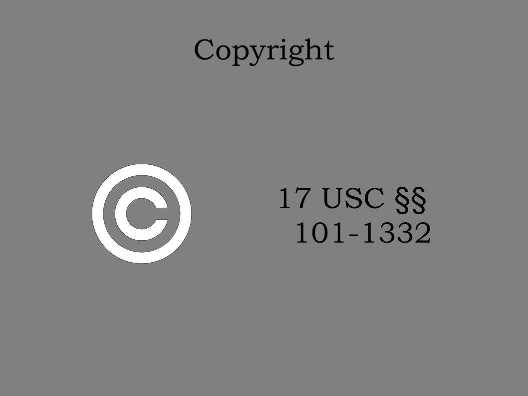 Copyright 17 USC §§ 101-1332