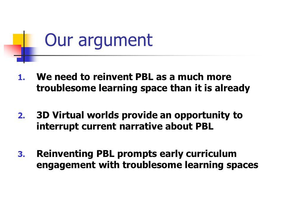 Our argument 1.