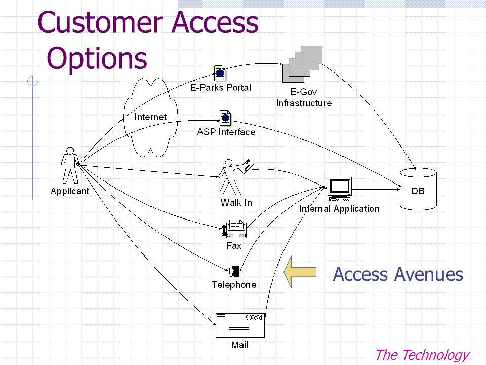 Customer Access Options Access Avenues The Technology