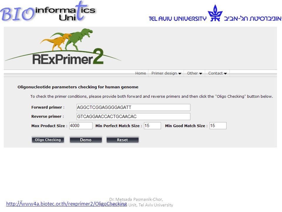 http://www4a.biotec.or.th/rexprimer2/OligoChecking Dr.
