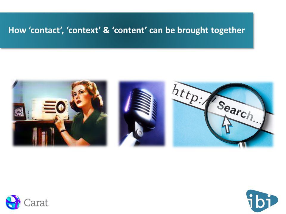 How 'contact', 'context' & 'content' can be brought together