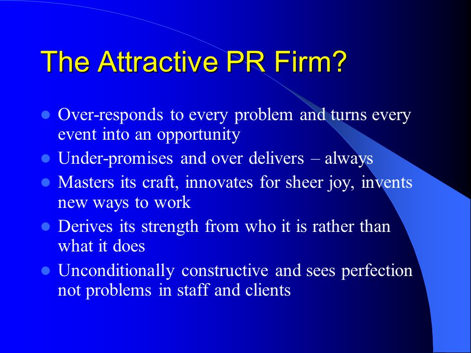 The Attractive PR Firm.